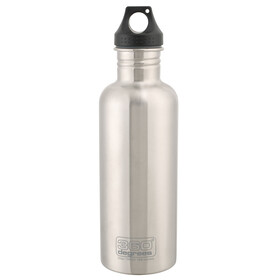 360° degrees Stainless Drinkfles 1000ml grijs
